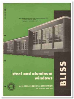 Bliss Steel Products Corp 1958 vintage windows catalog aluminum