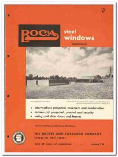 Bogert Carlough Company 1958 vintage windows catalog steel projected