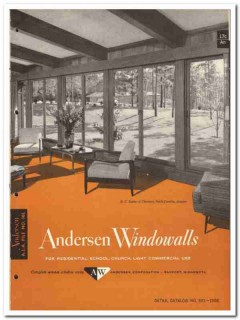 Andersen Corp 1958 vintage windows catalog Windowall Flexivent gliding