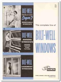 Carr Adams Collier Company 1958 vintage windows catalog Bilt-Well