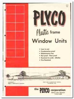 Plyco Corp 1958 vintage windows catalog plastic frame units Plastivent