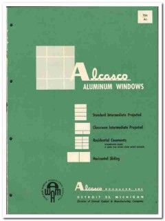 Alcasco Products Inc 1955 vintage window catalog aluminum projected