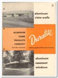 Aluminum Home Products Company 1955 vintage window catalog Duralite