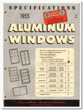 Aluminum Window Mfrs Association 1955 vintage catalog Specifications