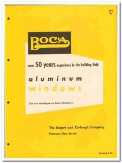 Bogert Carlough Company 1955 vintage window catalog aluminum projected