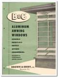 Brown Grist Inc 1955 vintage window catalog aluminum awning