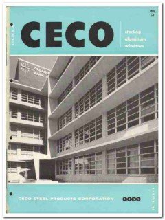 Ceco Steel Products Corp 1955 vintage window catalog aluminum sterling