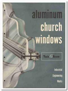 Industrial Engineering Works Inc 1955 vintage window catalog aluminum