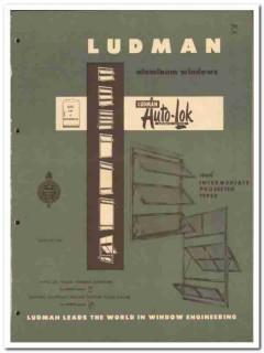 Ludman Corp 1955 vintage window catalog aluminum projected Auto-Lok