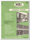 Marmet Corp 1955 vintage window catalog aluminum casement projected