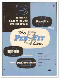 Per-Fit Products Corp 1955 vintage window catalog aluminum double-hung