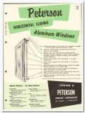 Peterson Window Corp 1955 vintage catalog aluminum sliding horizontal