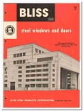 Bliss Steel Products Corp 1955 vintage window catalog projected