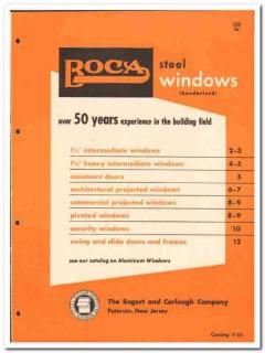 Bogert Carlough Company 1955 vintage window catalog steel intermediate