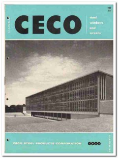Ceco Steel Products Corp 1955 vintage window catalog projected screens