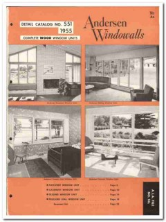 Andersen Corp 1955 vintage window catalog wood casement Flexivent