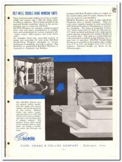 Carr Adams Collier Company 1955 vintage window catalog wood Bilt-Well