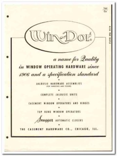 Casement Hardware Company 1955 vintage window catalog Jalousie Win-Dor