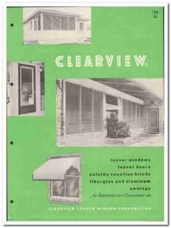 Clearview Louver Window Corp 1955 vintage catalog aluminum