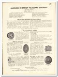 American District Telegraph Company 1935 vintage electrical catalog