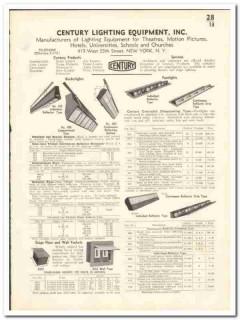 Century Lighting Equipment Inc 1935 vintage electrical catalog theater
