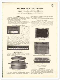 Best Register Company 1935 vintage heating catalog ventilators grilles