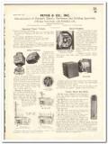 Pryne Company 1935 vintage heating catalog electric ventilator ceiling