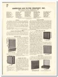 American Air Filter Company 1935 vintage heating catalog ventilation