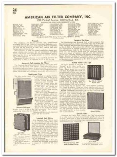 American Air Filter Company 1935 vintage heating catalog ventilation