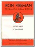 Iron Fireman Mfg Company 1935 vintage heating catalog coal firing fuel