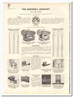 Brownell Company 1935 vintage heating catalog boilers stokers