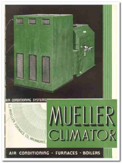 L J Mueller Furnace Company 1935 vintage heating catalog air condition