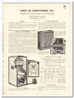 Lewis Air Conditioners Inc 1935 vintage heating catalog Split System