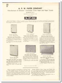 A P W Paper Company 1935 vintage bathroom catalog toilet towel Onliwon