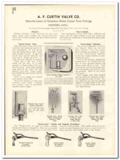 A F Curtin Valve Company 1935 vintage plumbing catalog water closet