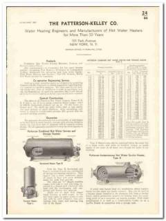 Patterson-Kelley Company 1935 vintage heating catalog hot water