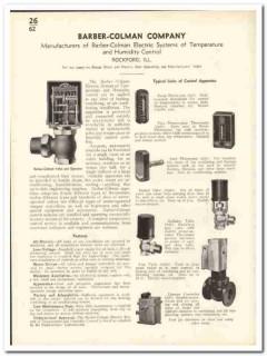Barber-Colman Company 1935 vintage heating catalog temperature humid