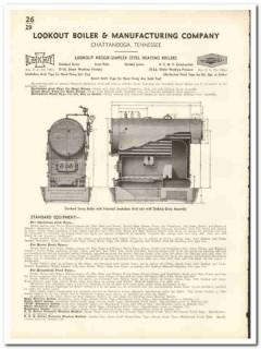 Lookout Boiler Mfg Company 1935 vintage heating catalog Heggie-Simplex