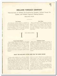 Holland Furnace Company 1935 vintage heating catalog Vaporaire forced