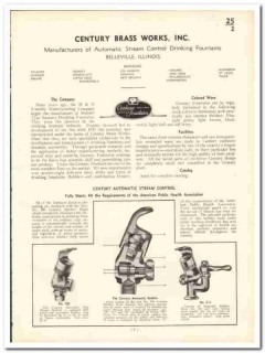 Century Brass Works Inc 1935 vintage plumbing catalog fountains drink