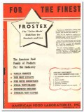 American Food Laboratories Inc 1943 vintage ad ice cream Frostex fine