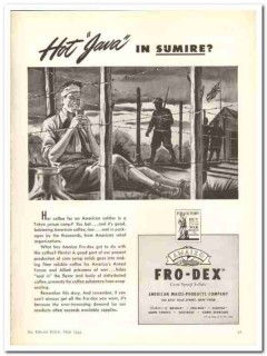 American Maize Products Company 1943 vintage ad ice cream Amaizo java