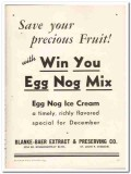 Blanke Baer Extract Preserving Company 1943 vintage ad ice cream fruit
