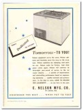 C Nelson Mfg Company 1943 vintage ad ice cream dedicated victory