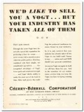 Cherry-Burrell Corp 1943 vintage ad ice cream sell Vogt industry taken