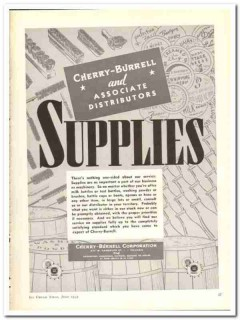 Cherry-Burrell Corp 1943 vintage ad ice cream Supplies bottles powder
