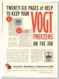 Cherry-Burrell Corp 1943 vintage ad ice cream Vogt freezer maintenance