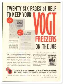 Cherry-Burrell Corp 1943 vintage ad ice cream Vogt freezer maintenance