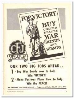 Cleveland Fruit Juice Company 1943 vintage ad ice cream Victory war