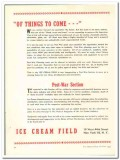 Ice Cream Field 1943 vintage ad Things To Come Post-War future